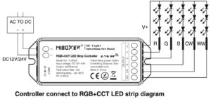 Milight RGB-CCT controller FUT045 bekötése